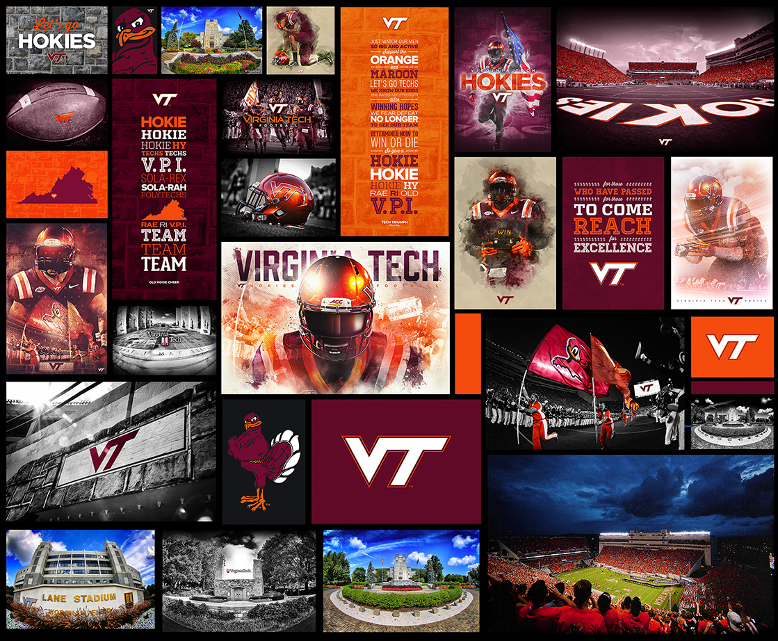 Virginia Tech Football Canvas Designs